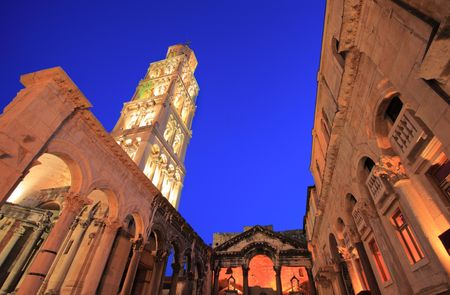 sightsee: Diocletians palace in Split, Croatia Stock Photo