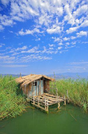 macedonia: Fishing village on lake Dojran, Macedonia Stock Photo