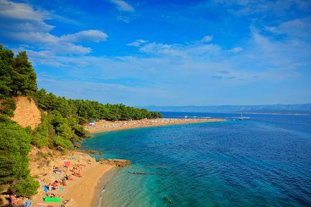 brac: Zlatni rat beach on the island of Brac, Croatia Stock Photo