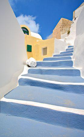 Scene from Oia village on Santorini island, Greece Stock Photo - 3819108