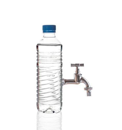 source d eau: L'eau du robinet Banque d'images