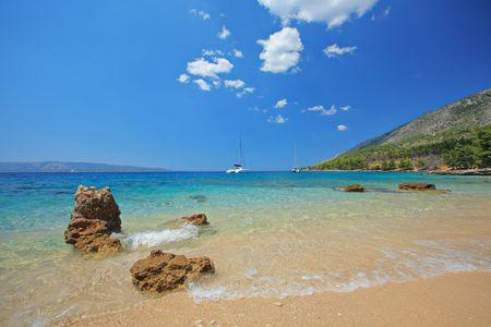 brac: Beautiful beach at island of Brac, Croatia