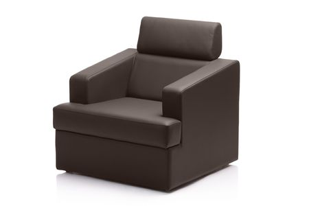 Image of a modern black leather armchair isolated on white Stock Photo - 3928710