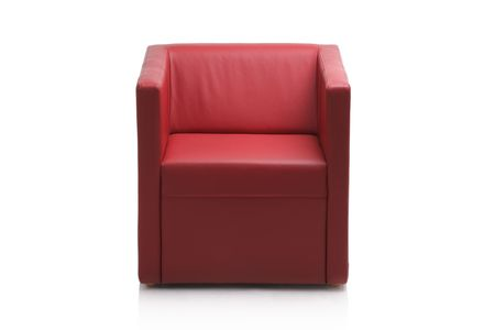 Image of a modern red leather armchair isolated on white background Stock Photo - 3903010