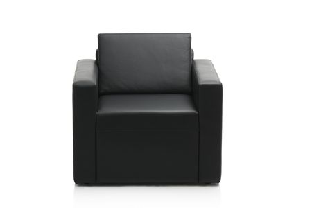 Image of a modern black leather armchair isolated on white background Stock Photo - 3903073