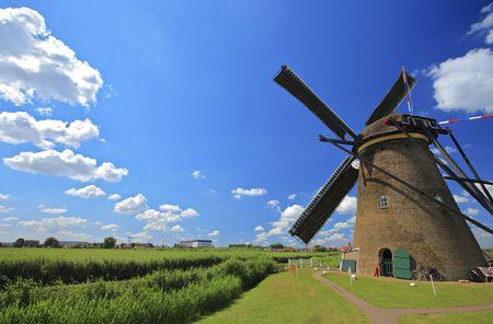 Windmill in Kinderdijk, Holland photo