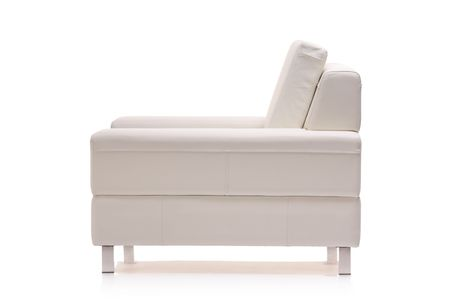 Image of a modern leather armchair isolated on white background photo