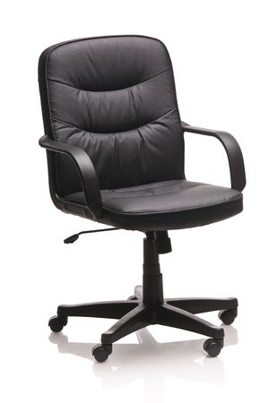 Image of a leather office chair isolated against white background Stock Photo - 4014890