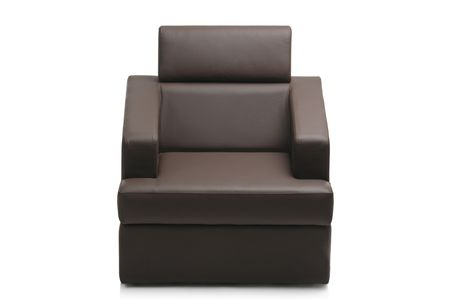 Image of a modern black leather armchair isolated on white background Stock Photo - 4080135