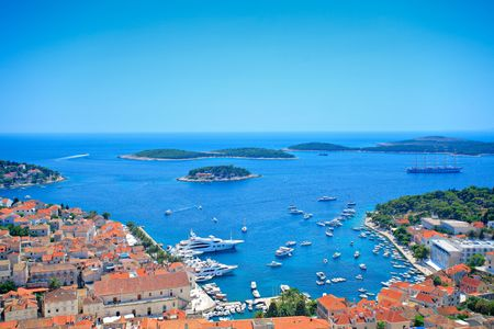 residential settlement: Island Hvar, Croatia, view from fortress