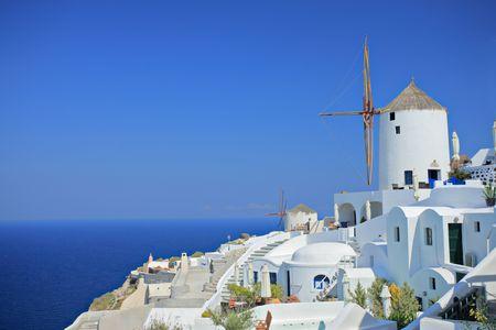 Windmill on Santorini island, Greece photo