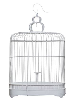 jailbird: A birdcage isolated on a white background