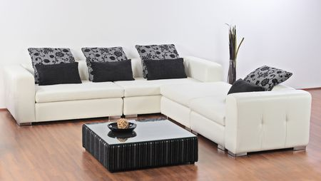 A modern minimalist living-room with furniture Stock Photo - 5039359