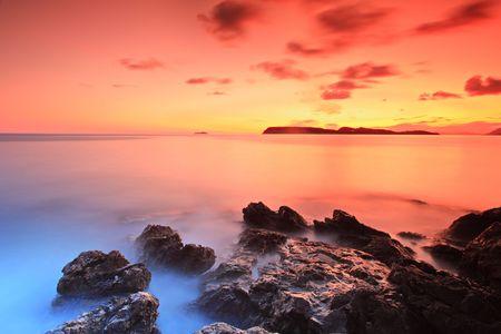 Sunset from Dubrovnik, Croatia Stock Photo - 5053996