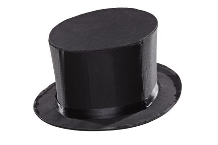 Top hat isolated against white background photo