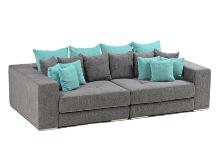 A view of a modern sofa isolated on white background photo