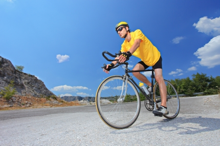 ciclismo: Ciclista Foto de archivo