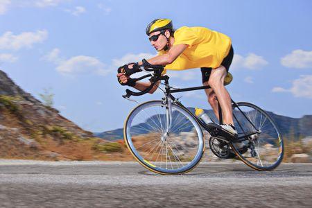 sportsman: Ciclista Foto de archivo