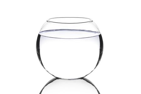 An empty fish bowl against white background Stock Photo - 5518144
