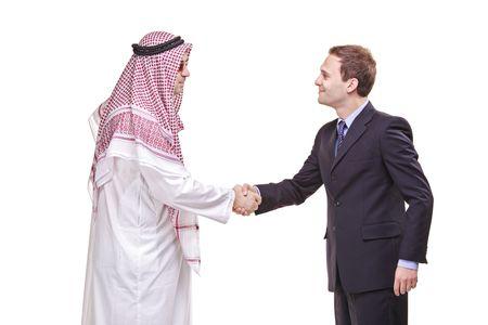 homme arabe: Faire des affaires