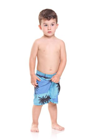 Adorable young boy posing isolated on white background Stock Photo - 5788596