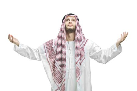 Young man of muslim religion praying Stock Photo - 5976795