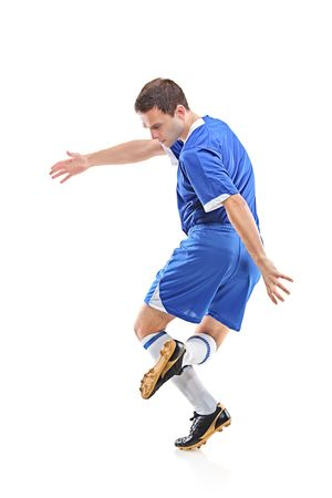 Football player isolated against white background Stock Photo - 6152112