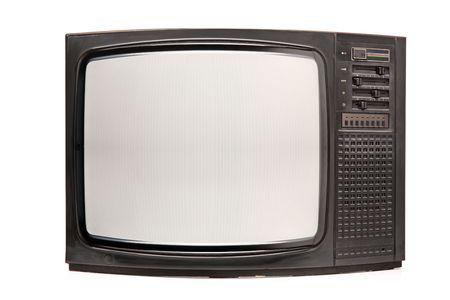 Retro TV isolated on white background Stock Photo - 6340421