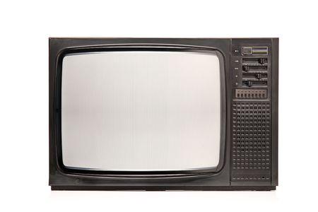 Retro TV isolated on white background Stock Photo - 6373442