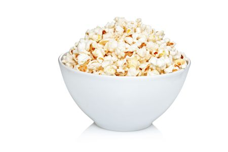 bowls of popcorn: Bowl of popcorn isolated on white background