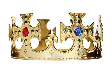 imperial: A crown isolated on white background Stock Photo