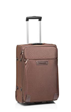 luggage: A suitcase isolated on white background Stock Photo