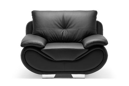 A view of a modern leather chair isolated on white background Stock Photo - 6625421