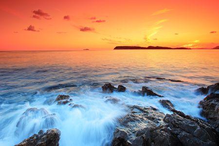 amazing stunning: Sunset from Dubrovnik, Croatia