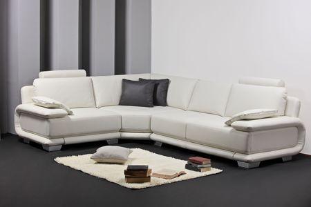 furnish: A modern minimalist living-room with furniture