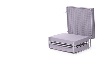 A view of a roll away bed isolated on white Stock Photo - 7130090