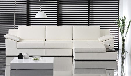 A studio shot of white sofa, do not need property release Stock Photo - 7455243