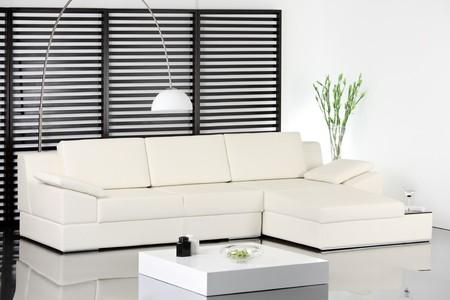 A studio shot of modern white sofa Stock Photo - 7455240