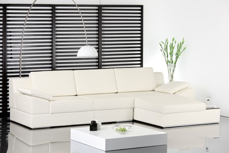 A studio shot of modern white sofa Stock Photo - 7455240