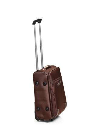 Travel bag isolated on white background photo