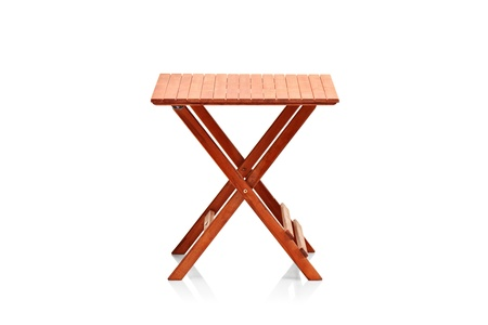 collapsible: Wooden folding table isolated on white background