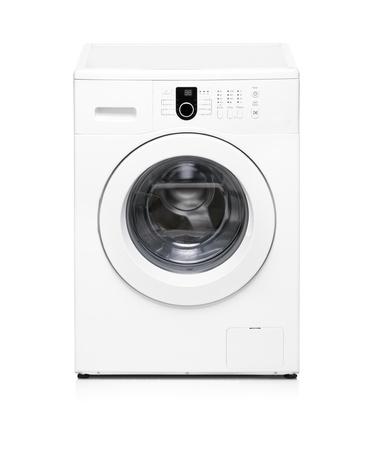 machine � laver: Une machine � laver isol�e sur fond blanc