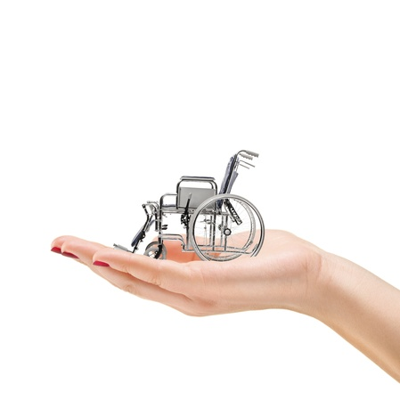 cadeira de rodas: Mulher Banco de Imagens