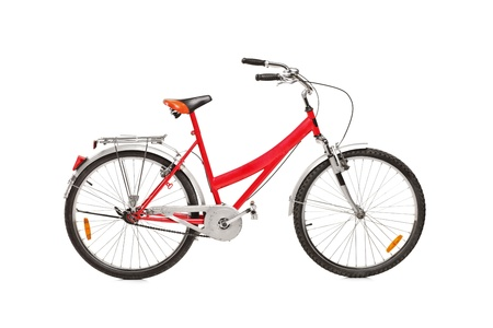 Studio shot of a bicycle isolated against white background Stock Photo - 14160444