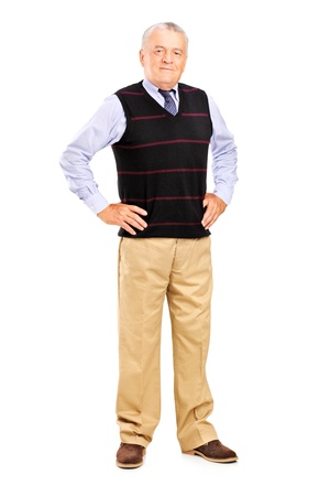 Full length of a mature male posing over white background Stock Photo - 15255036