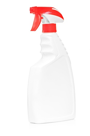 A studio shot of a cleaning spray isolated on white background photo