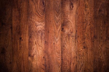Dark brown wooden floor, top view