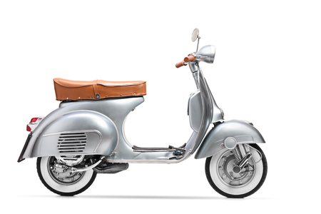 Vintage scooter isolated on white background Standard-Bild