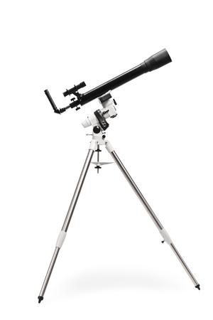 Studio shot of a telescope isolated on white background