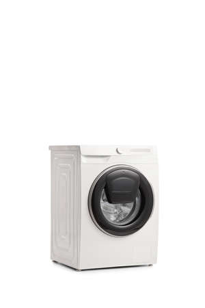 3 d view of a washing machine isolated on white background